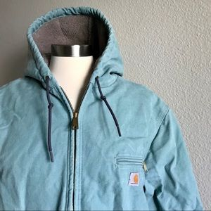 Carhartt Aqua Canvas Full Zip Sherpa Lined Jacket